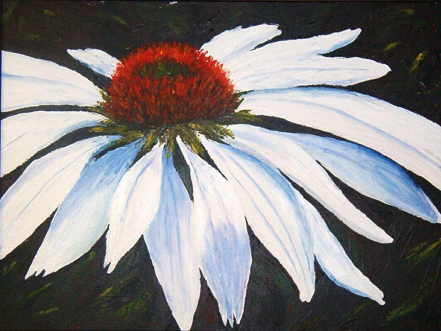 Cone Flowers Painting - Ghost Cone by Tami Booher