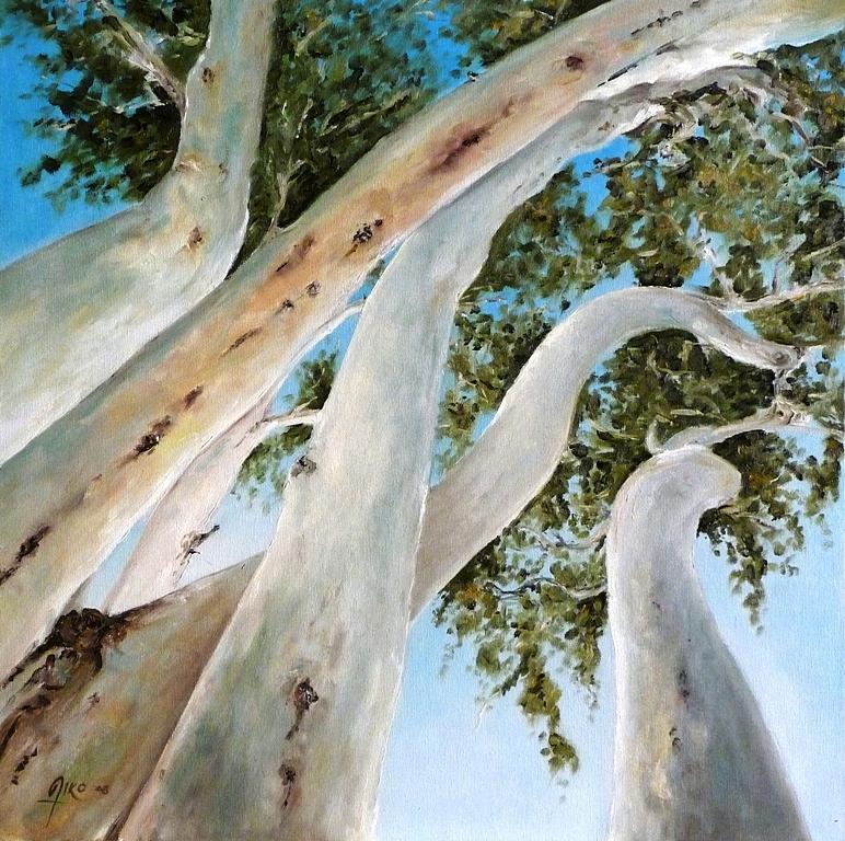 Australia Painting - Ghost Gum Snakes by Diko