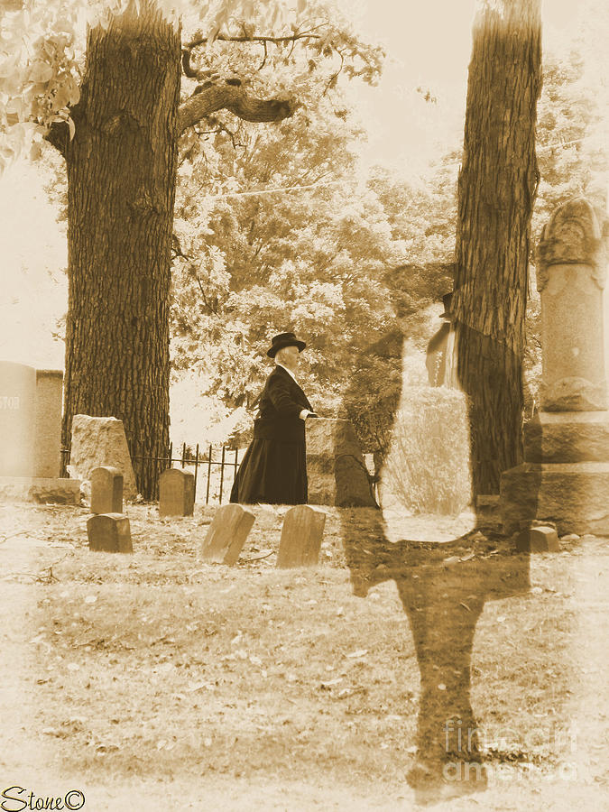 Cemetery Photograph - Ghost In The Graveyard by September  Stone