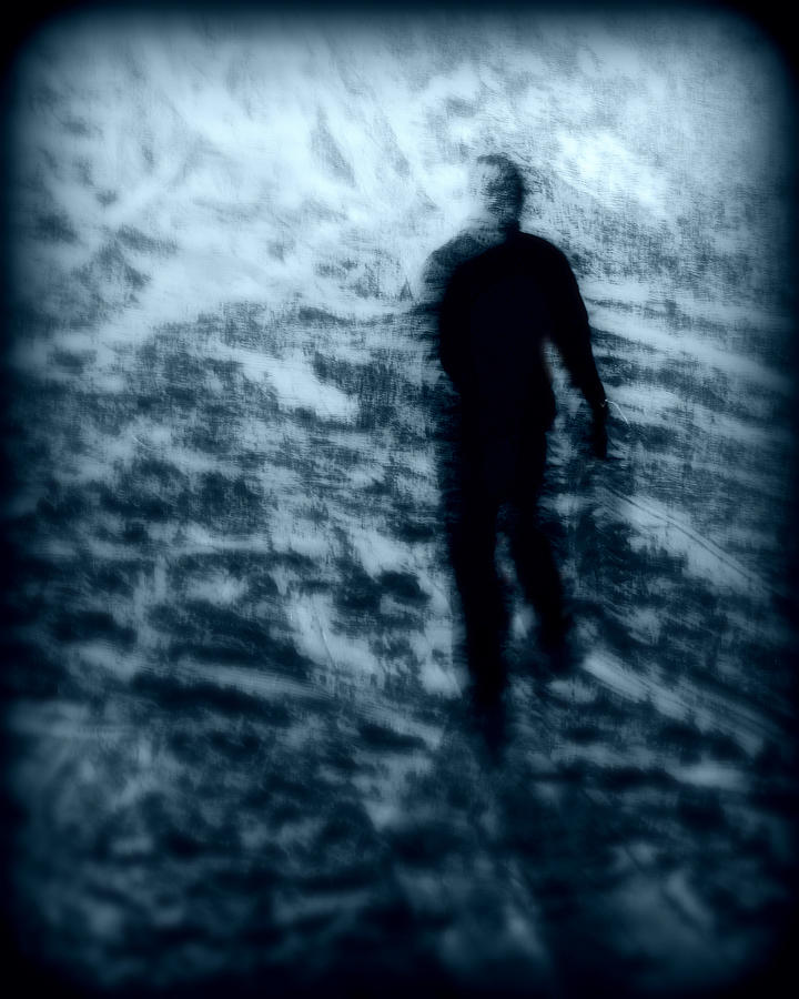 Blue Photograph - Ghost In The Snow by Perry Webster