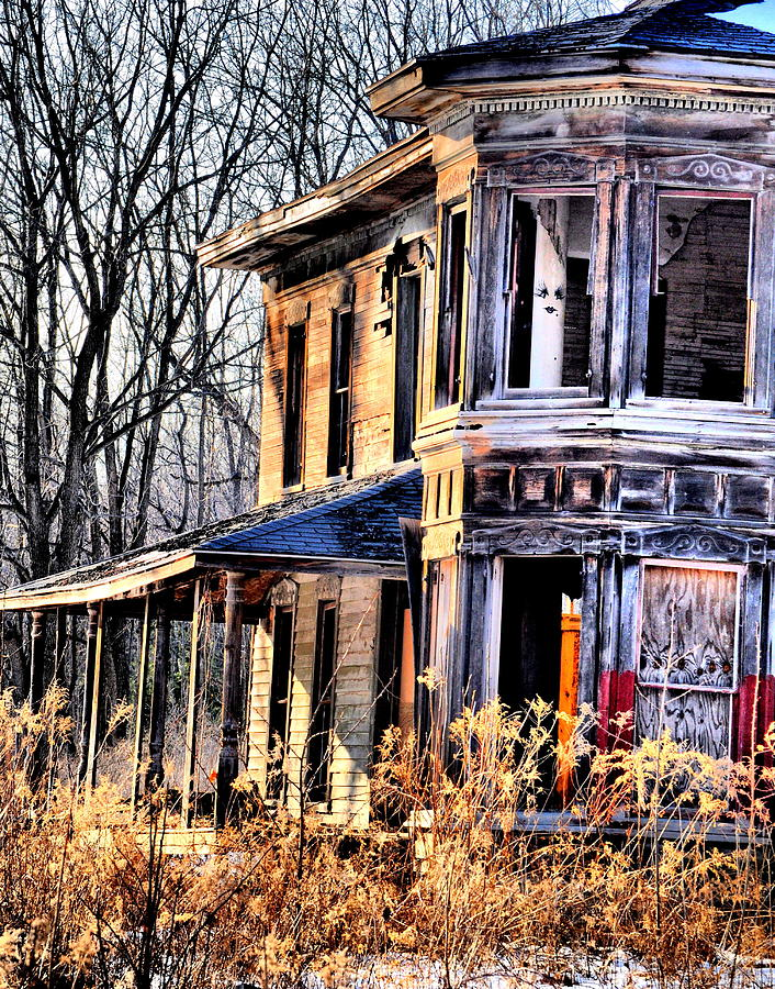 Abandoned House Photograph - Ghost In The Window by Emily Stauring
