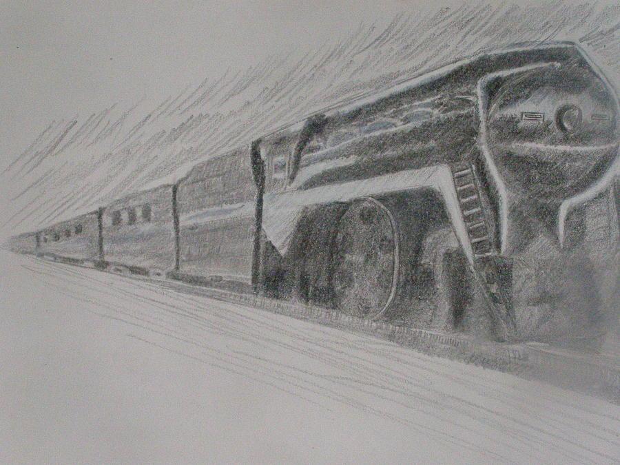 Train Painting - Ghost by Joanna  Kasprzak