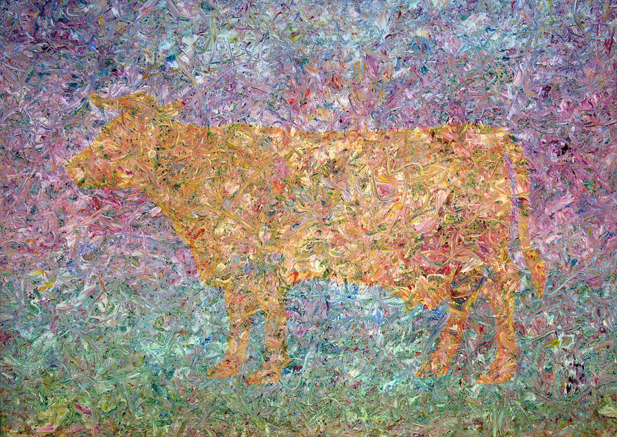 Abstract Painting - Ghost Of A Cow by James W Johnson