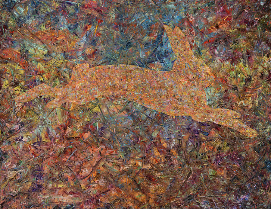 Abstract Painting - Ghost Of A Rabbit by James W Johnson