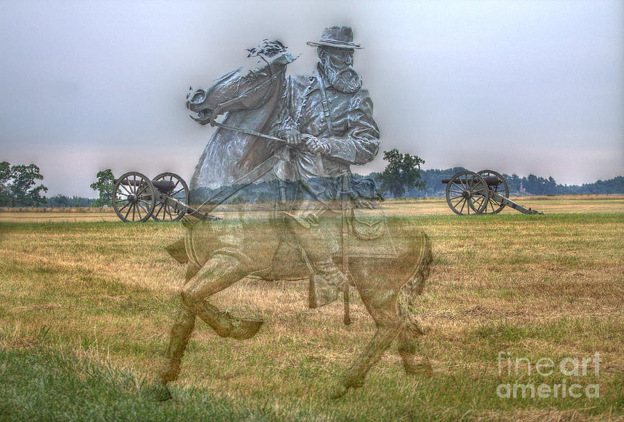 Spirit Digital Art - Ghost Of Gettysburg by Randy Steele