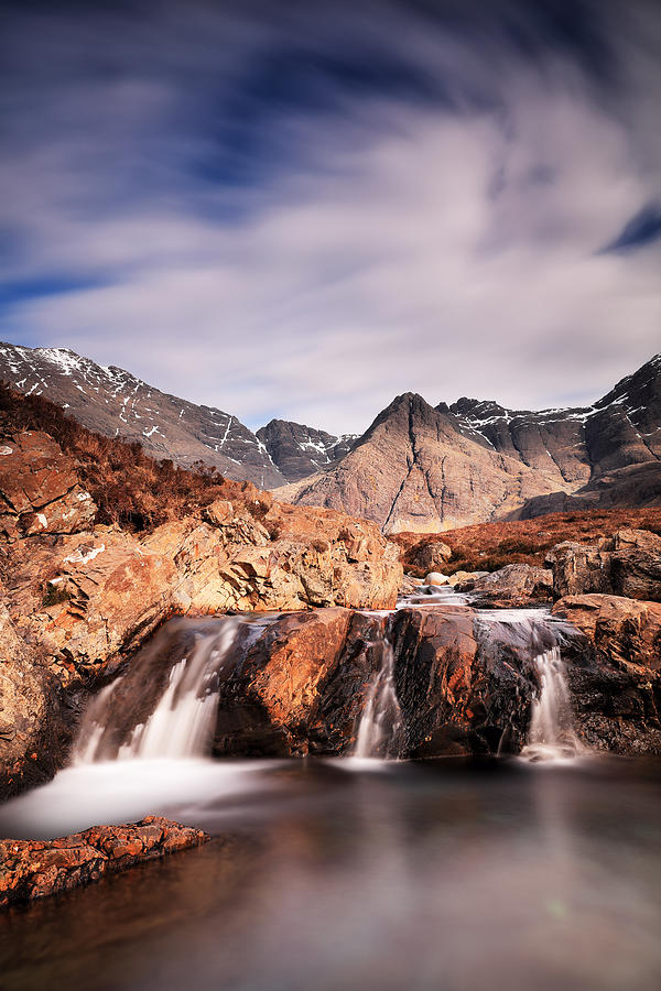 Isle Of Skye Photograph - Ghost of the Fairy Pools by Grant Glendinning