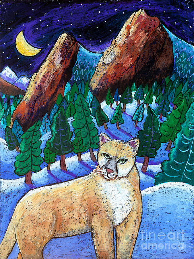 Cougar Painting - Ghost Of The Night by Harriet Peck Taylor