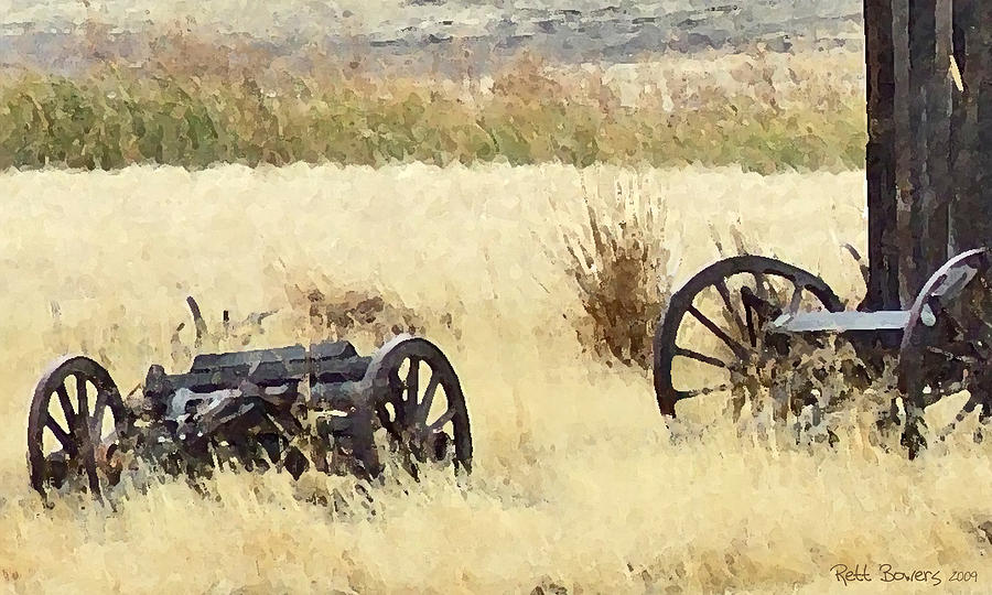 Conestoga Painting - Ghost Of The Oregon Trail by Everett Bowers