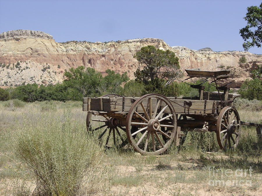 Wagon Photograph - Ghost Ranch by Mary Rogers