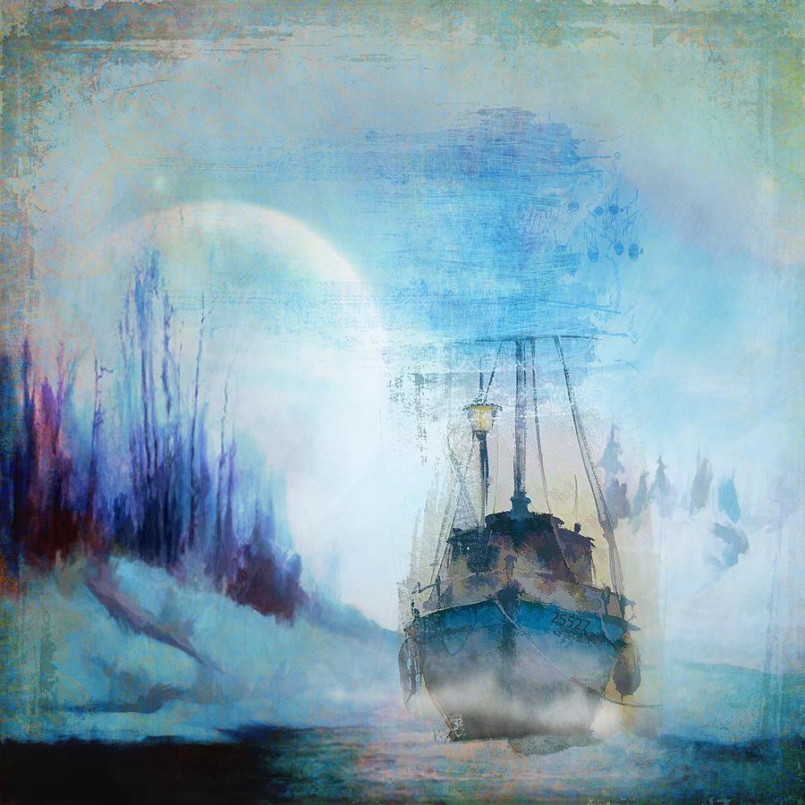 Ship Photograph - Ghost Ship by Diana Boyd