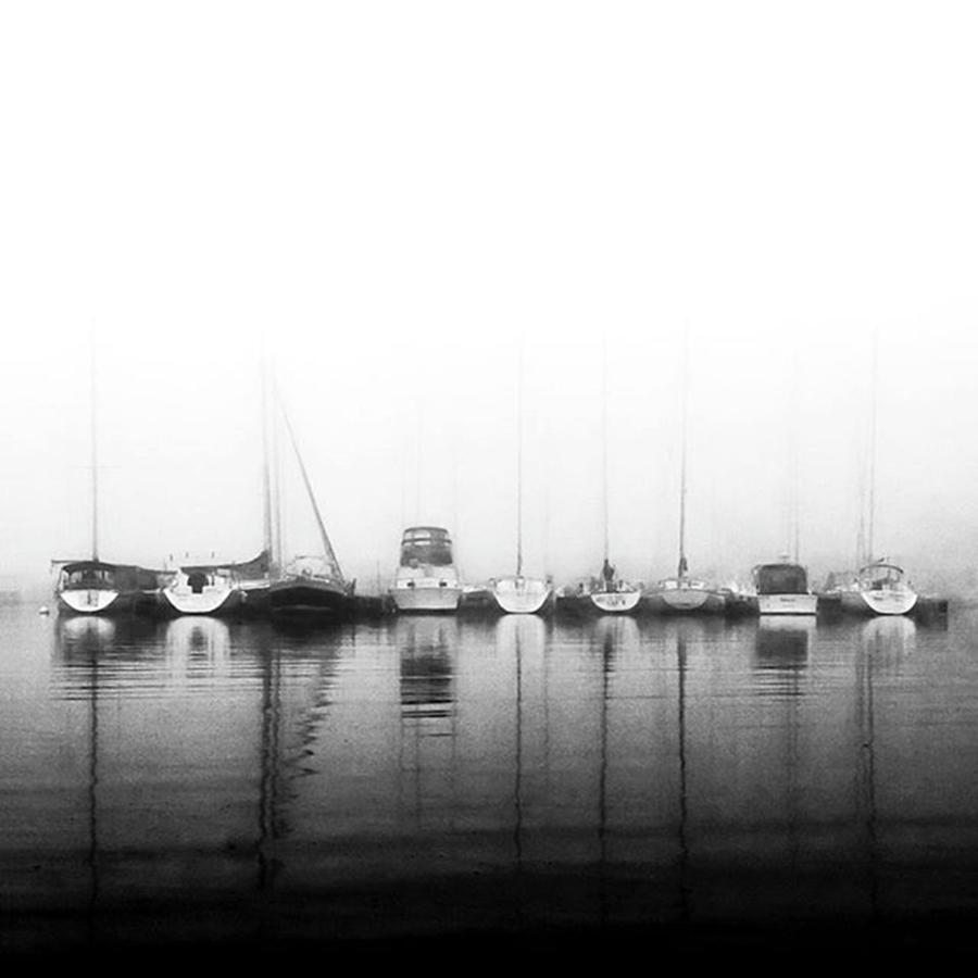 Monochrome Photograph - Ghost Ships.  #toronto #boats by Brian Carson