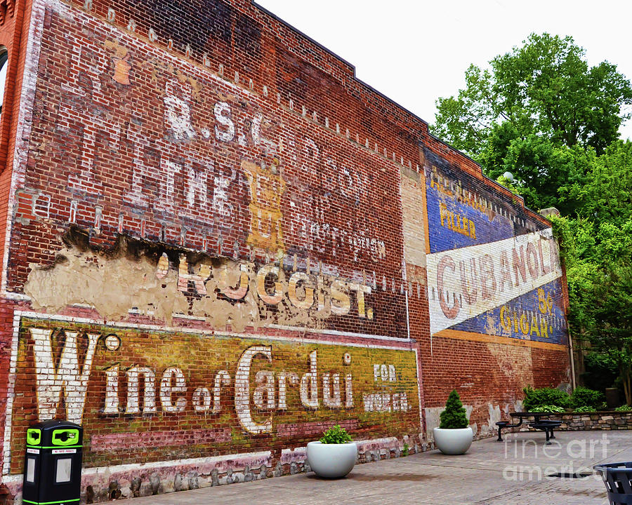 Ghost Signs Photograph - Ghost Signs In Radford Virginia by Kerri Farley