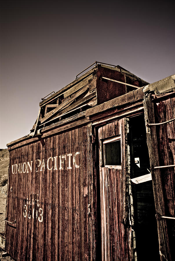 Caboose Photograph - Ghost Town Caboose by Patrick  Flynn
