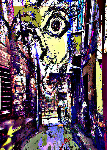 City Scape Mixed Media - Ghost Town by Noredin Morgan