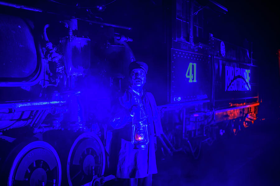 2017 Photograph - Ghost Train Conductor by Matthew Nelson