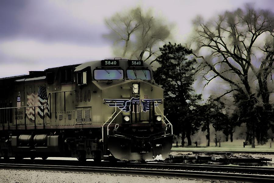 Ghost Train Photograph - Ghost Train by Stephen Schwiesow