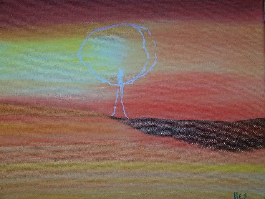 Nature Painting - Ghost Tree by Ida Hes