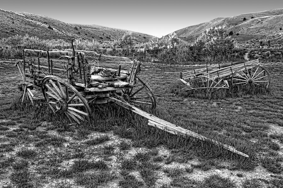 Wagons Photograph - Ghost Wagons Of Bannack Montana by Daniel Hagerman