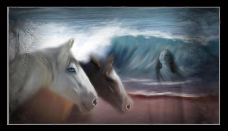 Horse Digital Art - Ghost Walker by Lori Barnes