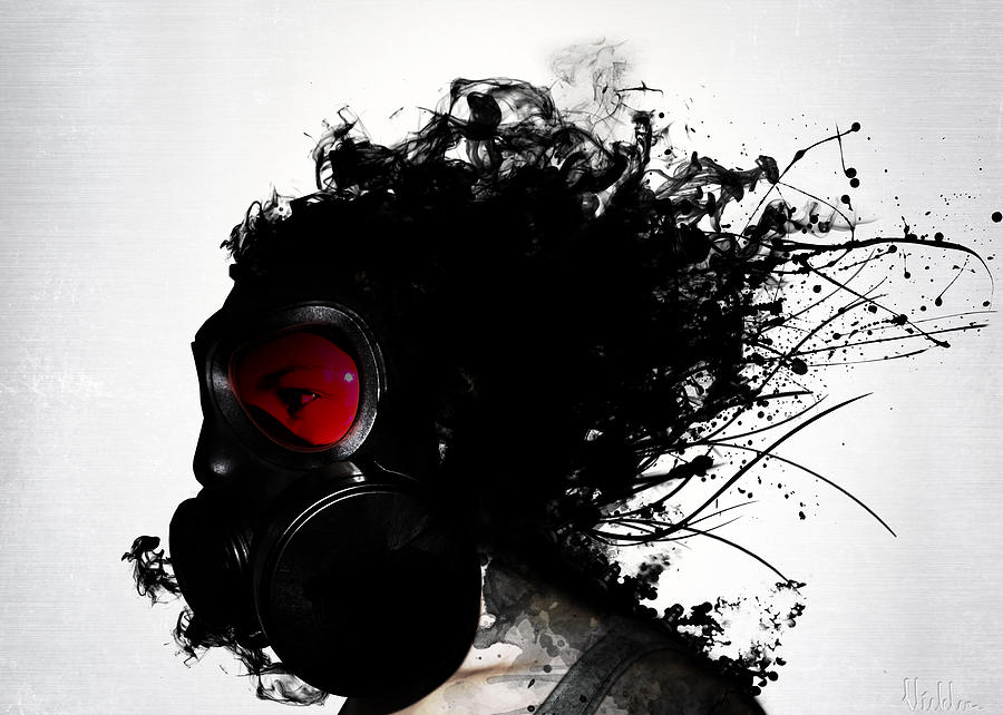 Gas Mixed Media - Ghost Warrior by Nicklas Gustafsson