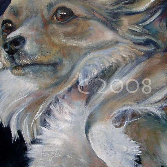 Ghostdog Painting by Lucky Dogs