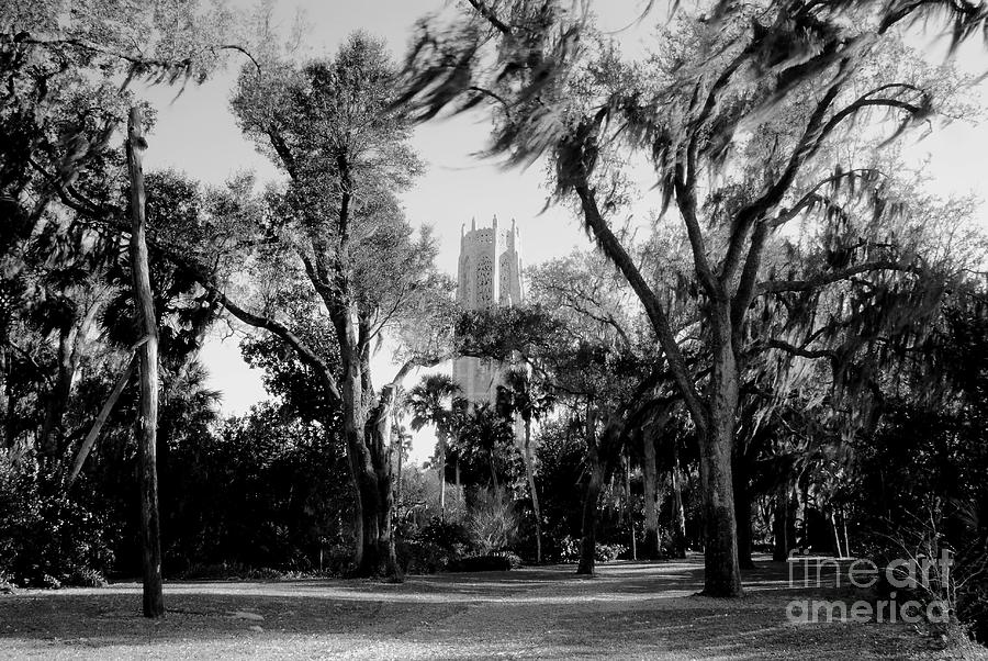 Bok Tower Photograph - Ghostly Bok Tower by David Lee Thompson