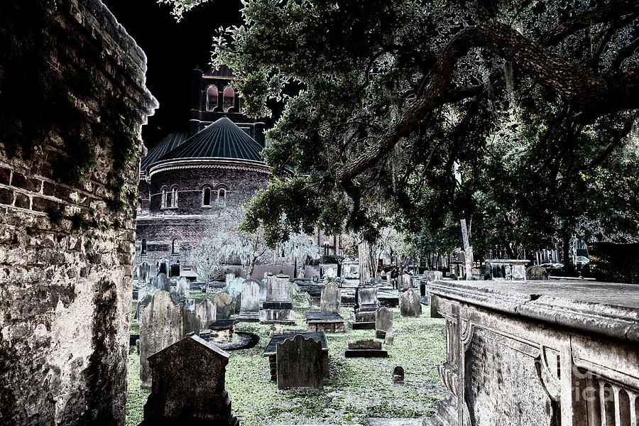 Ghostly Cemetary Photograph
