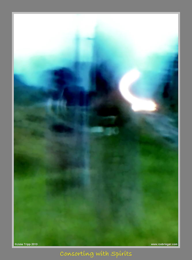 Ghost Photograph - Ghosts By The Tracks  by Jane Tripp