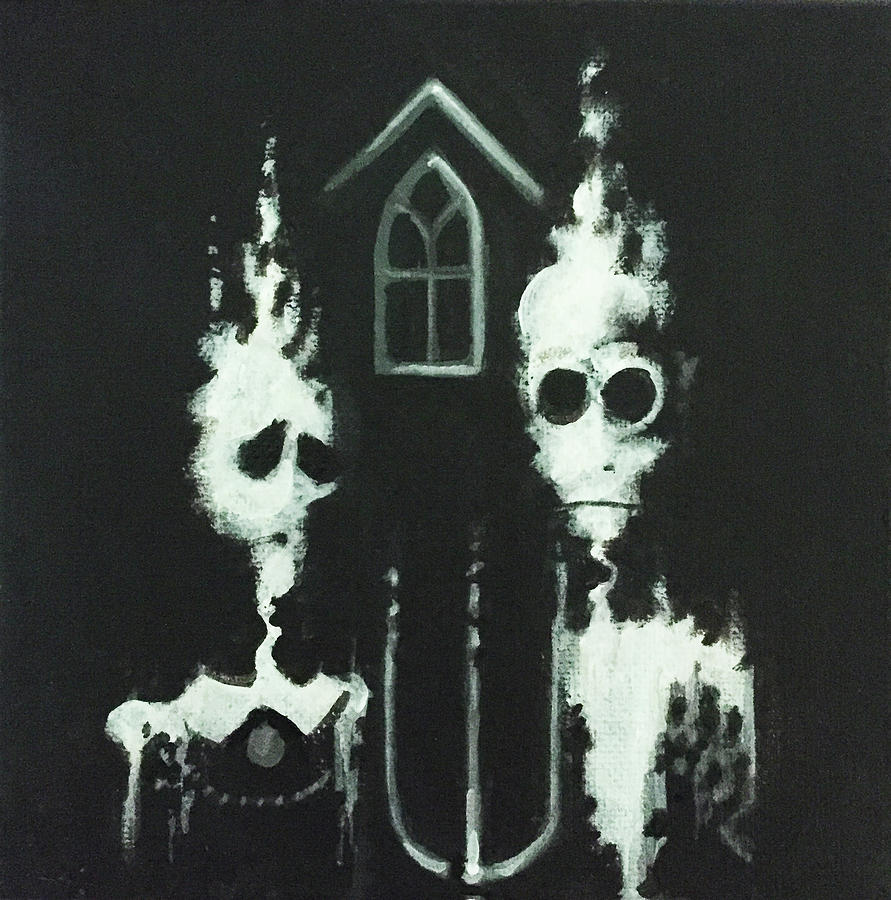 Ghosts Painting - Ghosts Of American Gothic by Jeffrey Bess
