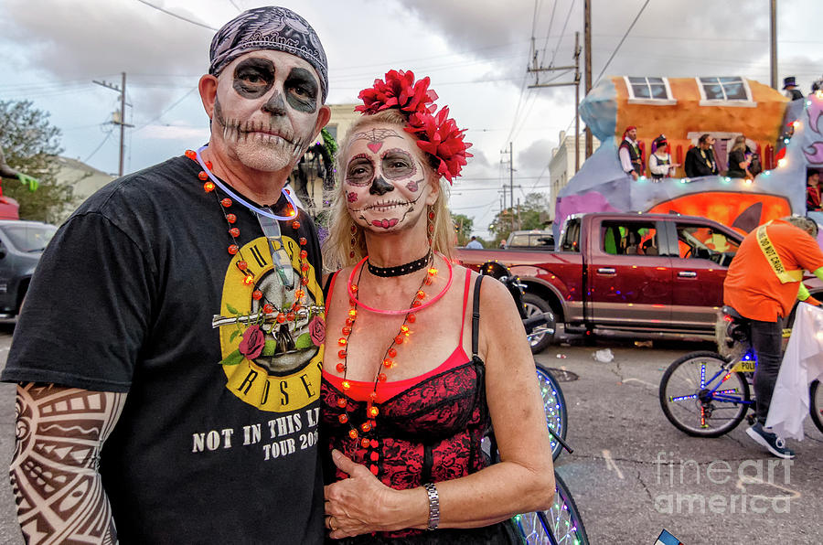 Ghouls At Boo Parade New Orleans Photograph