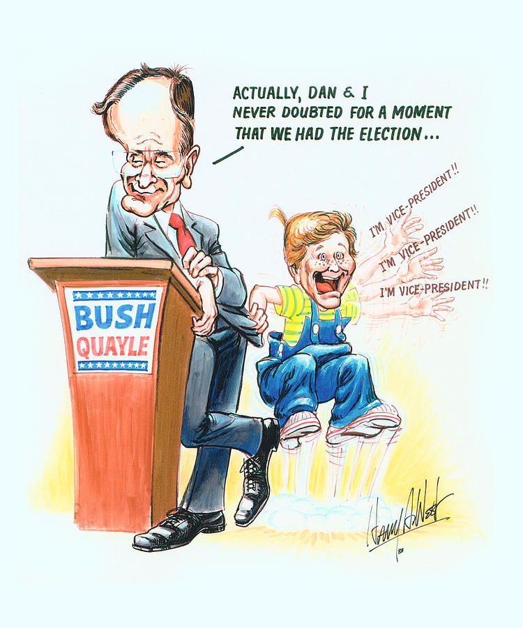 George Hw Bush Drawing - Ghwb Election by Harry West