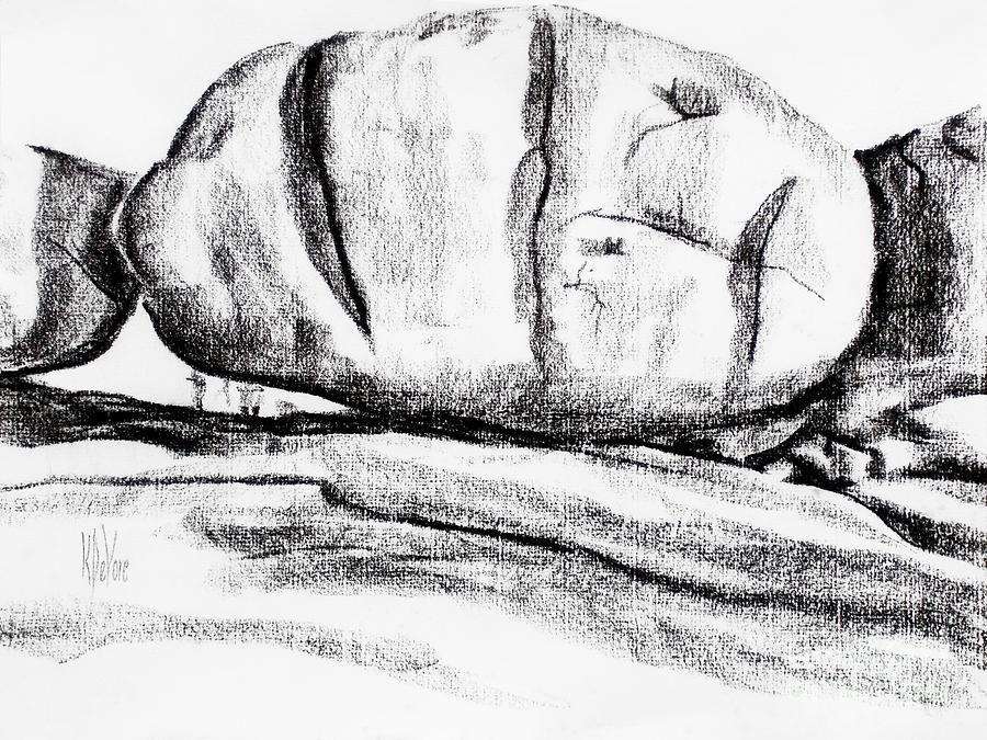Rocks Drawing - Giant Baked Potato At Elephant Rocks State Park by Kip DeVore