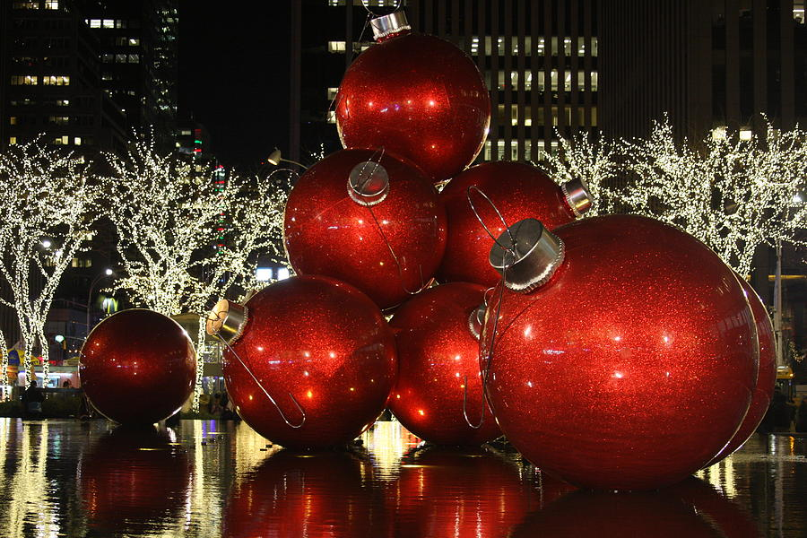 Giant Christmas Ornaments In New York City By Vadim Levin