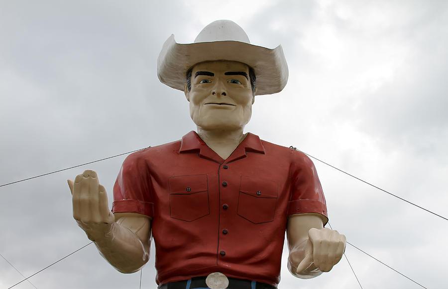 Western Photograph - Giant Cowboy Portrait by Tony Grider