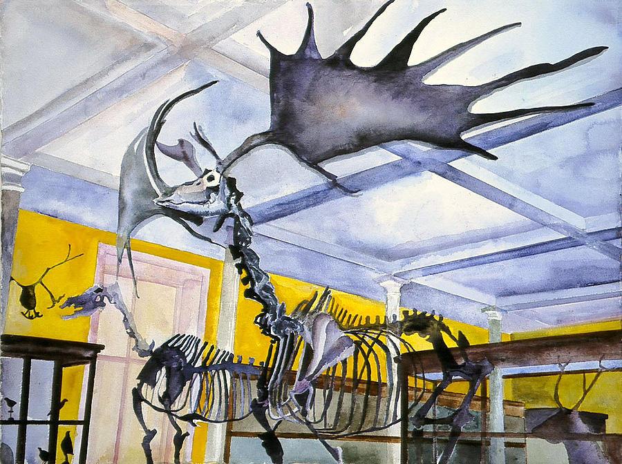 Giant Deer, Dublim Museum by Kathleen Barnes