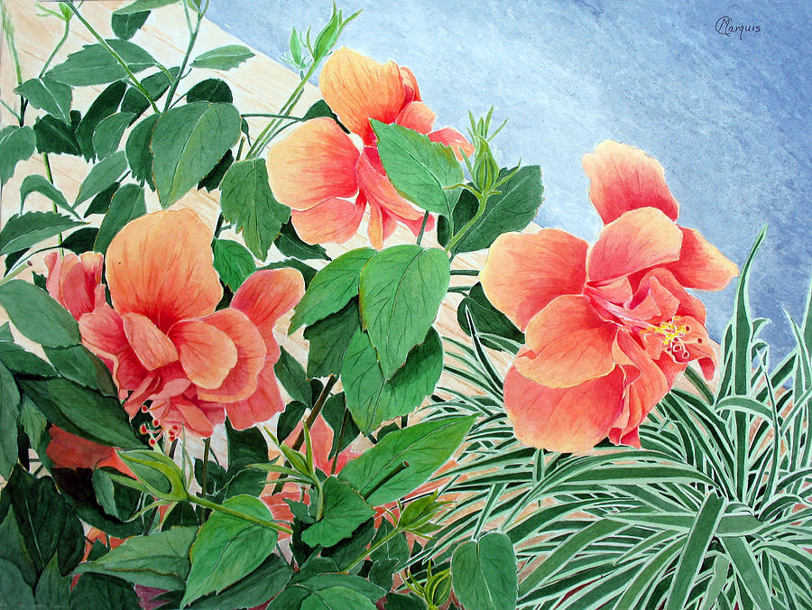 Floral Painting - Giant Hibiscus by Colleen Marquis