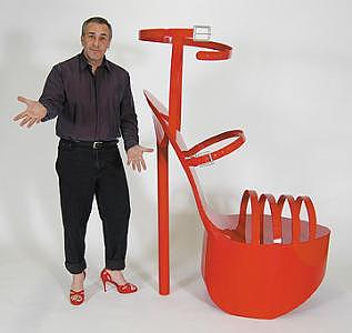Shoes Sculpture - Giant High Heel Shoe Sculpture by Bruce Gray