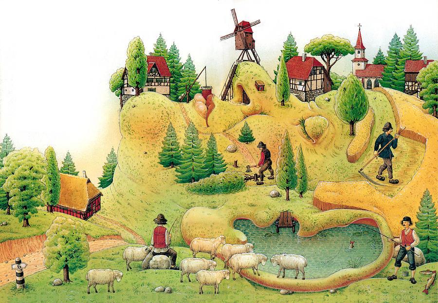 Giant Landscape Painting by Kestutis Kasparavicius