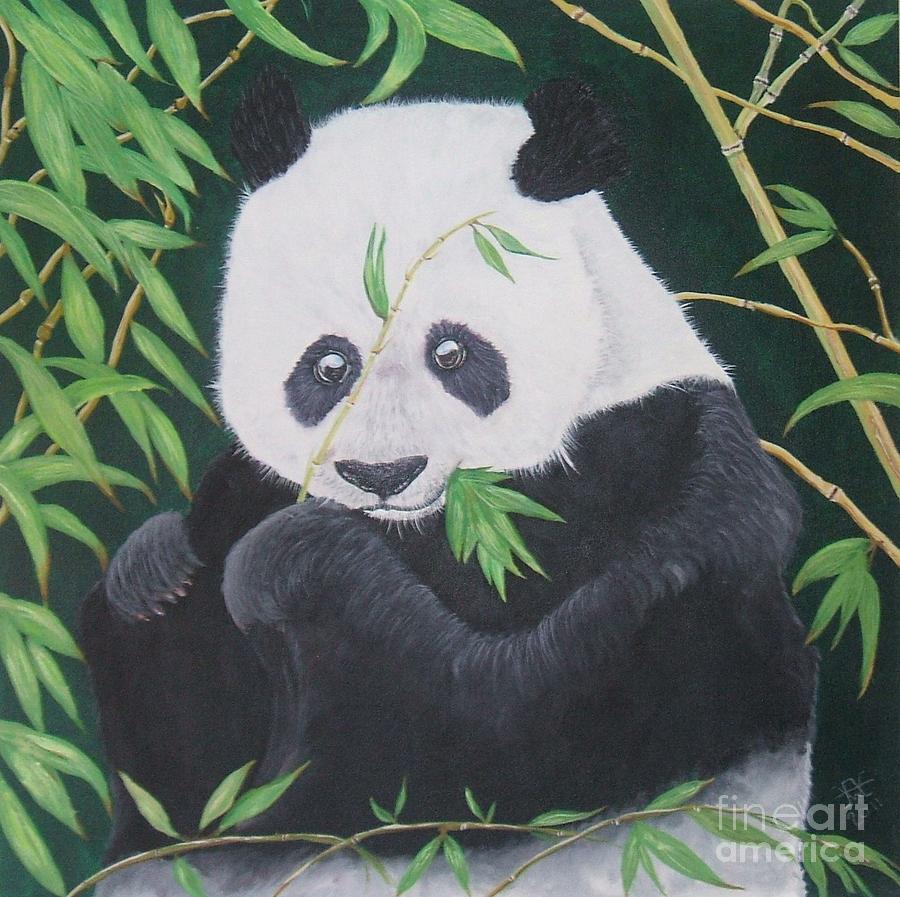 Acrylic Panda Bear Painting