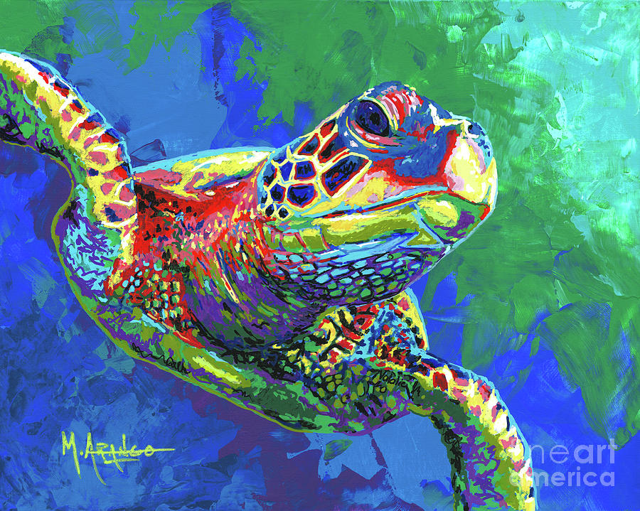 Giant Sea Turtle Painting By Maria Arango