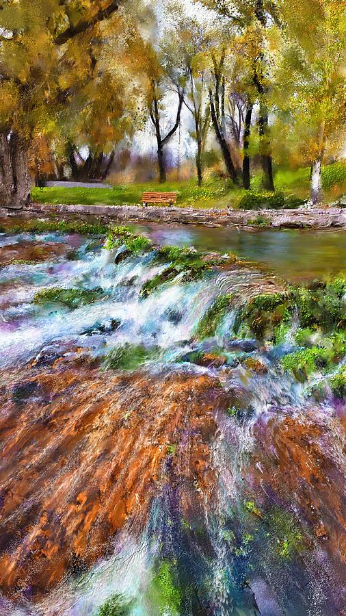Giant Springs Digital Art - Giant Springs 2 by Susan Kinney