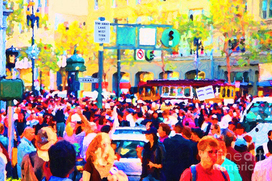 Market Street Photograph - Giants 2010 Champions Parade . Photo Artwork by Wingsdomain Art and Photography