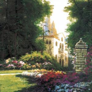 Garden Print - Giardino Di Villa Candida by Anna M Barbuggiani