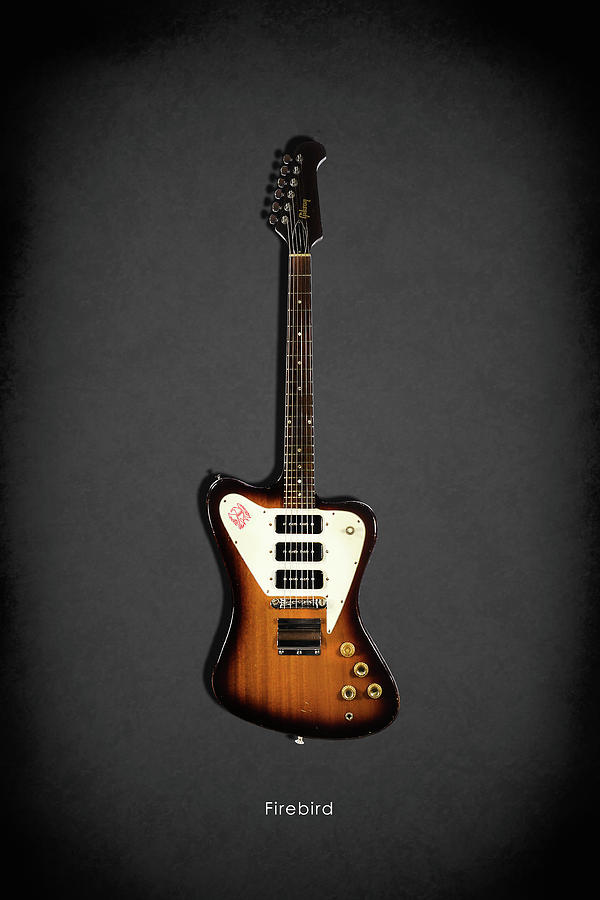 Gibson Firebird Photograph - Gibson Firebird 1965 by Mark Rogan