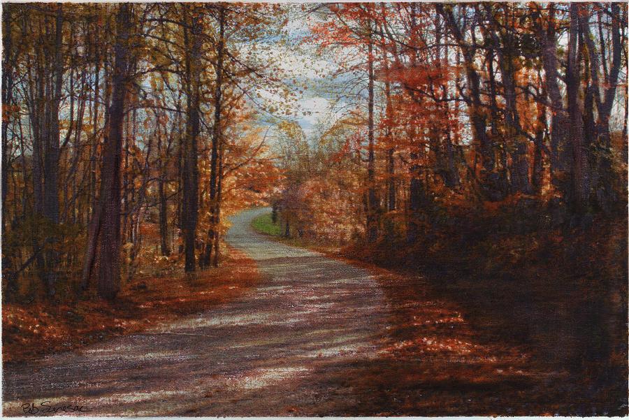 Road Mixed Media - Gibson Ridge Road by Bob Senesac