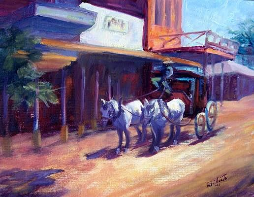 Arizona Painting - Giddy Up by Geri Acosta