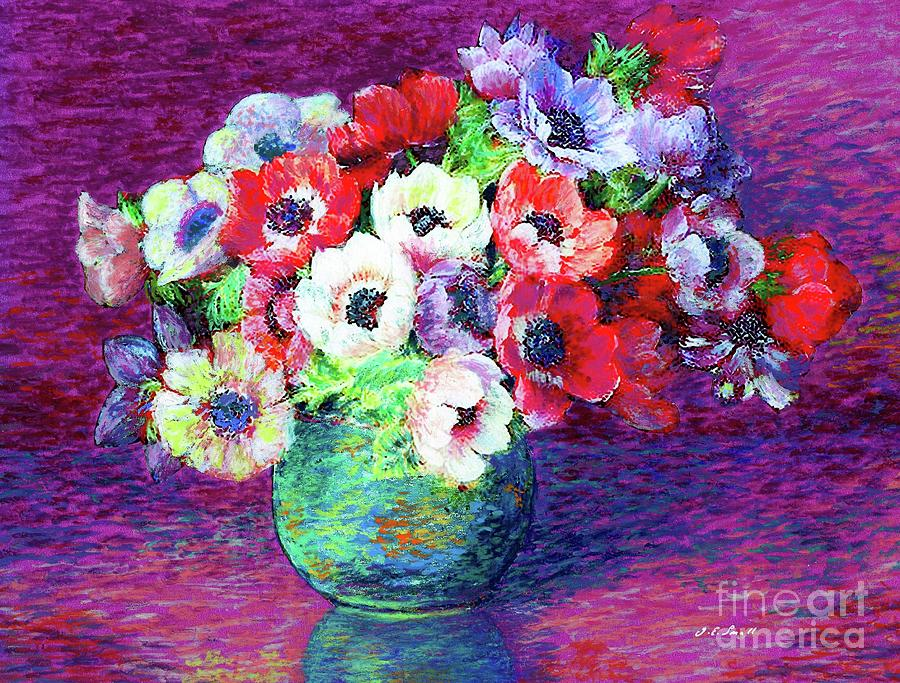 Gift Of Anemones Painting