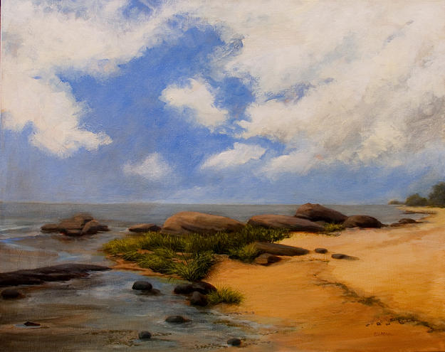 Seascape Painting - Gifts From The Sea by Jan Blencowe