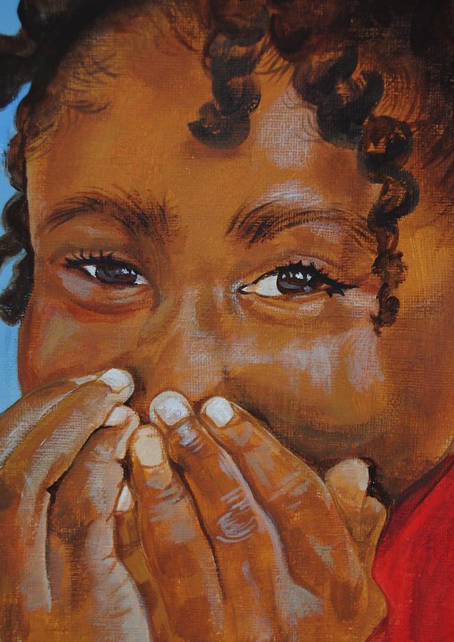 Girl Painting - Giggles by Charon Rothmiller