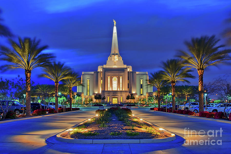 Gilbert Photograph - Gilbert Arizona Temple Of The Church Of Jesus Christ Of Latter-day Saints by Sam Antonio Photography